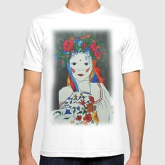 Skullcandy Ethnic Lady II Mens Fitted Tee White MEDIUM