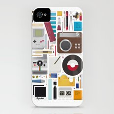 Stuff (white background) iPhone (4, 4s) Slim Case