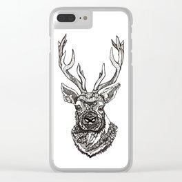 Spirit Elk Clear iPhone Case