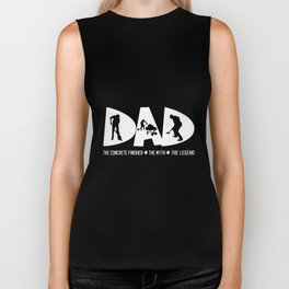 dad the concrete finisher the myth the legend dad Biker Tank