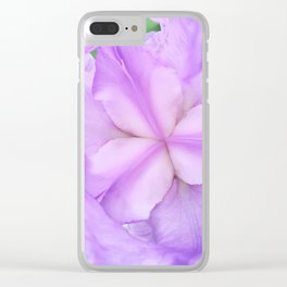 513 - Abstract Flower Design Clear iPhone Case