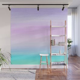 Touching Unicorn Girls Watercolor Abstract #1 #painting #decor #art #society6 Wall Mural