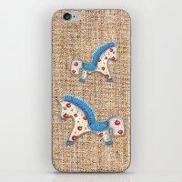 calendar iPhone & iPod Skins featuring 2014 horse calendar by Katja Main