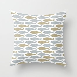 shoal of herring Throw Pillow