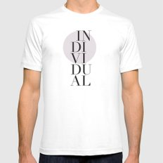 Individual SMALL Mens Fitted Tee White