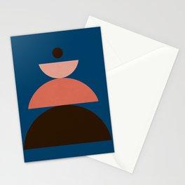 Abstraction_SUN_GEOMETRIC_SHAPE_MOUNTAIN_BLUE_POP_ART_0204A Stationery Cards