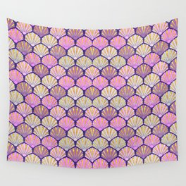 Seashell pink and lilac for mermaids Wall Tapestry