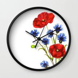 Flowers by Lars Furtwaengler| Ink Pen | 2011 Wall Clock