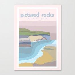 Pictured Rocks Michigan  Canvas Print