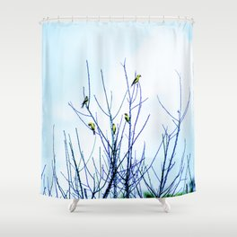 Goldfinches in a Tree Shower Curtain