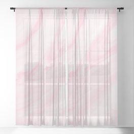 Pink Marble Blush pattern Sheer Curtain