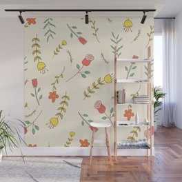 Colorful Spring Summer Flowers Wall Mural