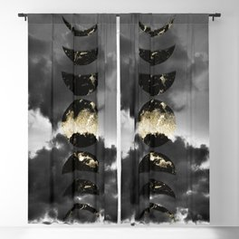 Mystical Moon Phases #1 #gold #black #decor #art #society6 Blackout Curtain