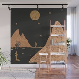 A Night in the Desert Wall Mural