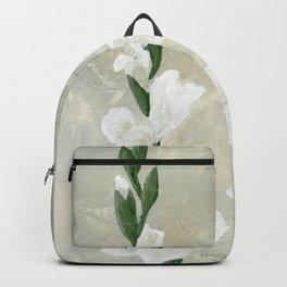 White Gladiolus Backpack