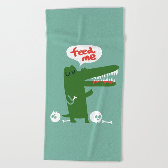 Hungry Hungry Alligator Beach Towel