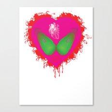 lovebomb-iiis - élan vital ephemeral - in_destruction creation! (blood splatter v) Canvas Print