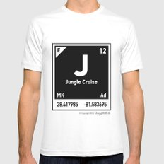 Elements of J - Jungle Cruise White MEDIUM Mens Fitted Tee