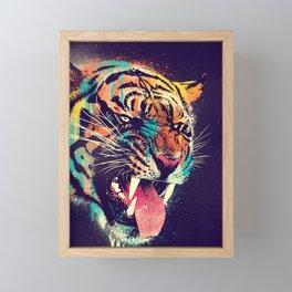 FEROCIOUS TIGER Framed Mini Art Print