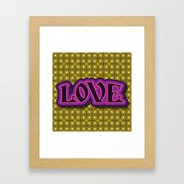 retrographic LOVE 2 Framed Art Print
