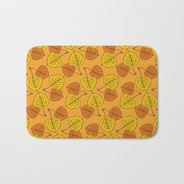 Aspen Leaves Pattern Bath Mat