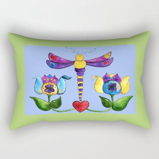 Dragonfly Love Rectangular Pillow