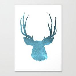 Deer head and stag simple illustration Canvas Print