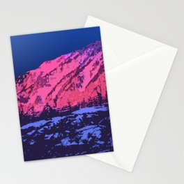 Material MountainSunset Stationery Cards