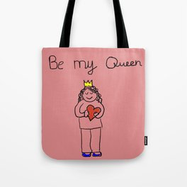 cute and lovely girl for valentine's day Tote Bag