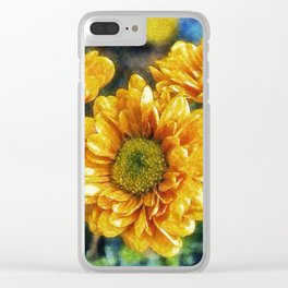 Sunny Flowers Clear iPhone Case