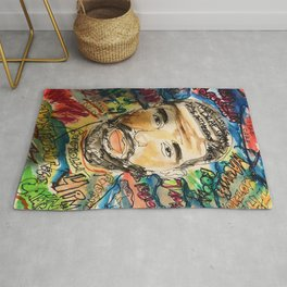 ovo,drizzzy,poster,wall art,dope,toronto,graffiti,street art,fan art,music,gift,rap,hiphop,rapper Rug