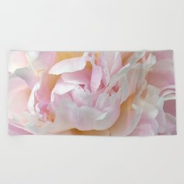 Pink Petal Flower Power Beach Towel