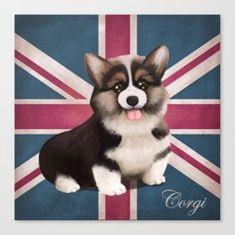 Royal Corgi Baby Canvas Print
