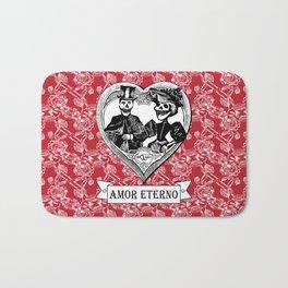 Amor Eterno | Eternal Love | Red and Black Bath Mat