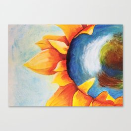 The World within a Sunflower Canvas Print