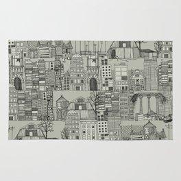 dystopian toile mono Rug