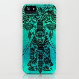 Ornate Patterned Elephant iPhone Case