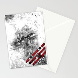 asc 164 - The Red Baron & Newton I (Le château des nuages) Stationery Cards