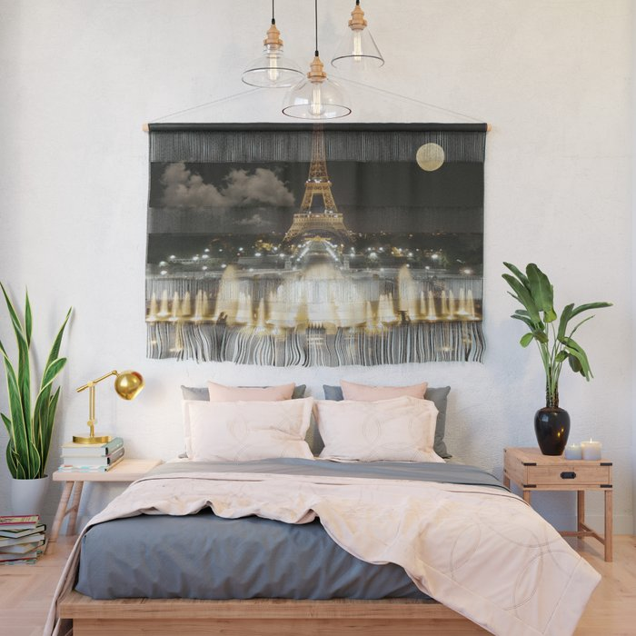 Eiffel Tower at Night Wall Hanging