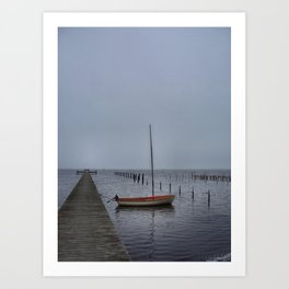 Lonely at the Jetty  Art Print