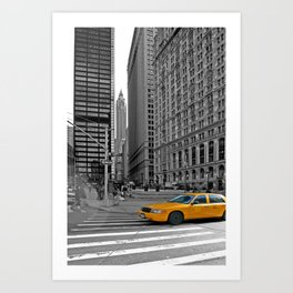 NYC - Yellow Cabs - Trinity Place Art Print