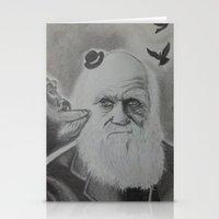 darwin Stationery Cards featuring Darwin family by Serkan Aydin