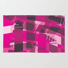 DEEP PINK Abstract Art Rug