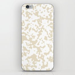 Spots - White and Pearl Brown iPhone Skin