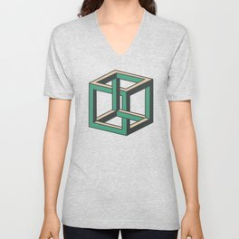 Impossible Cube Unisex V-Neck