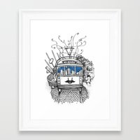 melbourne Framed Art Prints featuring Melbourne by Raul Garderes