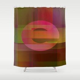 Letter e Shower Curtain