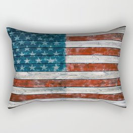 Vintage American Flag Rectangular Pillow