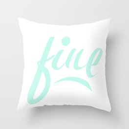 Fine & Minty Fresh Throw Pillow