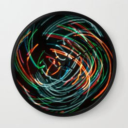 colorful lights Wall Clock